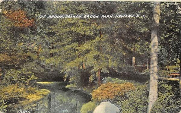 The Brook, Branch Brook Park Newark, New Jersey Postcard