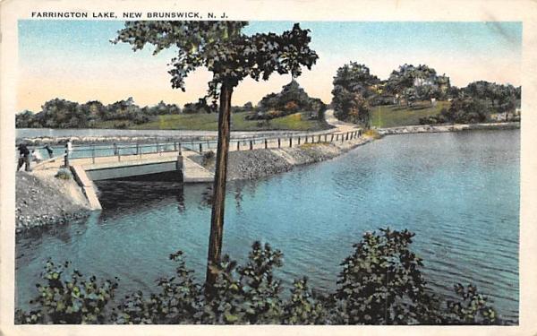 Farrington Lake New Brunswick, New Jersey Postcard