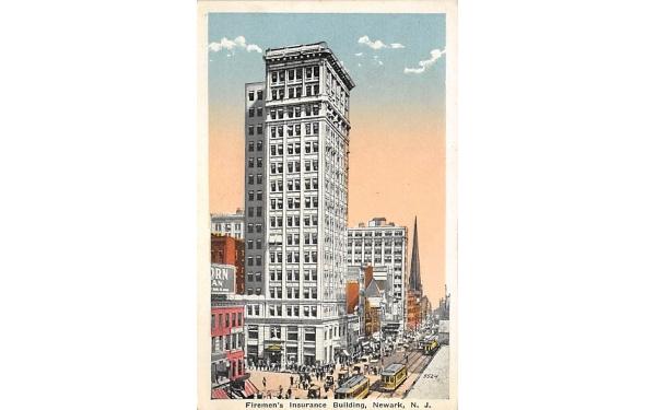 Firemen's Insurance Building Newark, New Jersey Postcard
