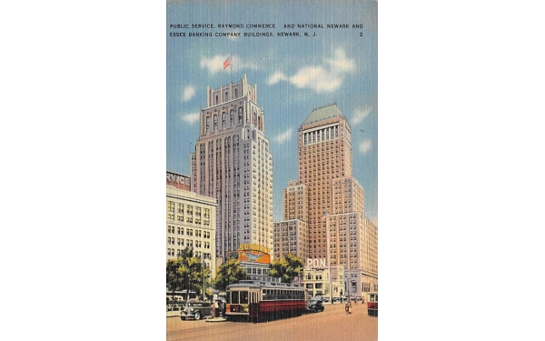 Essex Banking Company Buildings Newark, New Jersey Postcard