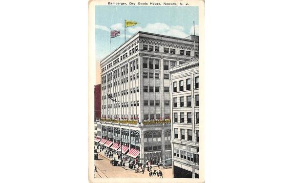 Bamaberger, Dry Goods House Newark, New Jersey Postcard