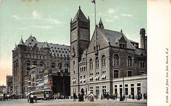 Board Street, from Park Newark, New Jersey Postcard