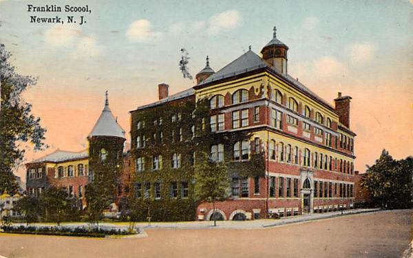 Franklin Scoool Newark, New Jersey Postcard