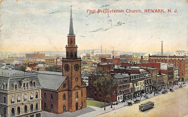 First Presbyterian Church Newark, New Jersey Postcard