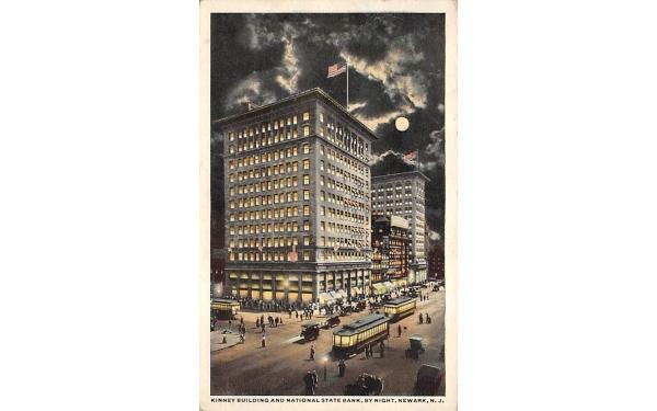 Kinney Building and National Statebank Newark, New Jersey Postcard