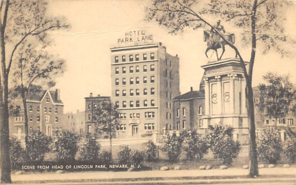 Scene from Head of Lincoln Park Newark, New Jersey Postcard