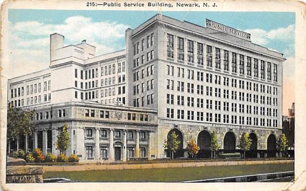 Public Service Building Newark, New Jersey Postcard