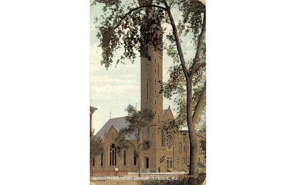 Second Presbyterian Church Newark, New Jersey Postcard