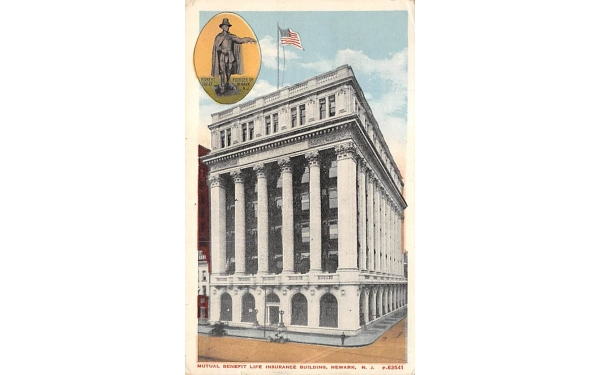 Mutual Benefit Life Insurance Building Newark, New Jersey Postcard