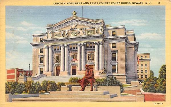 Essex County Court House Newark, New Jersey Postcard