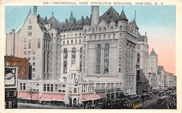 Prudential Life Insurance Building Newark, New Jersey Postcard
