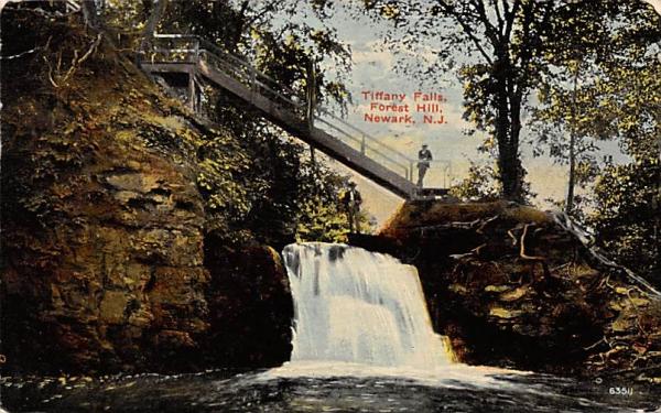 Tiffany Falls, Forest Hill Newark, New Jersey Postcard