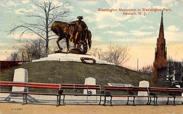 Washington Monument in Washington Park Newark, New Jersey Postcard