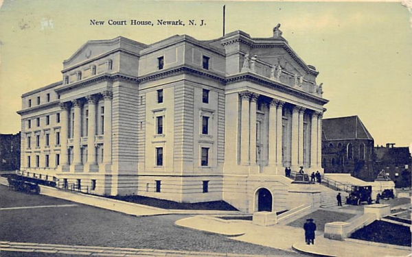 New Court House Newark, New Jersey Postcard