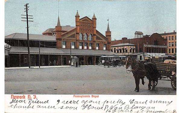 Pennsylvania Depot Newark, New Jersey Postcard