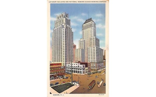 Lefcourt Building and National Newark New Jersey Postcard