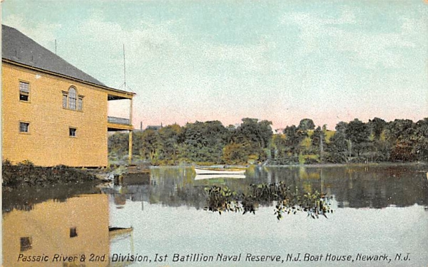 Passaic Riverf & 2nd. Division Newark, New Jersey Postcard