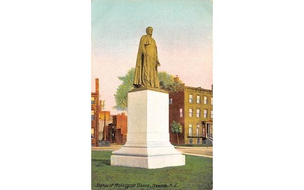 Statue of Monsignor Doane Newark, New Jersey Postcard