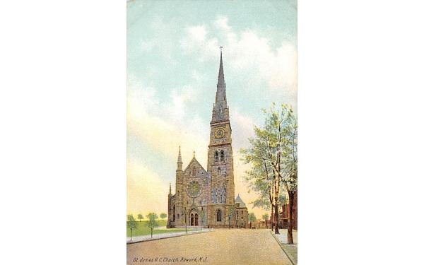 St. James R.C. Church Newark, New Jersey Postcard
