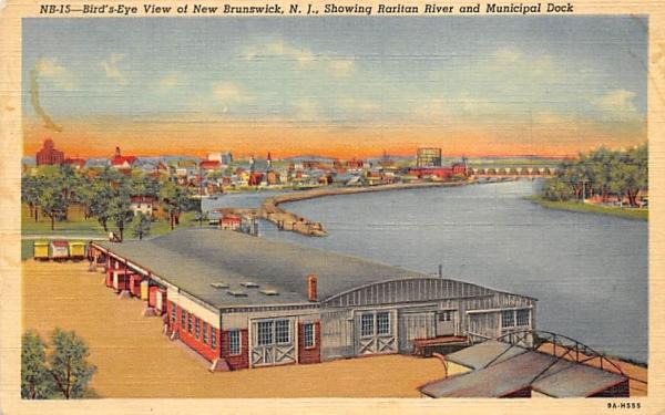 New Brunswick showing Raritan River New Jersey Postcard