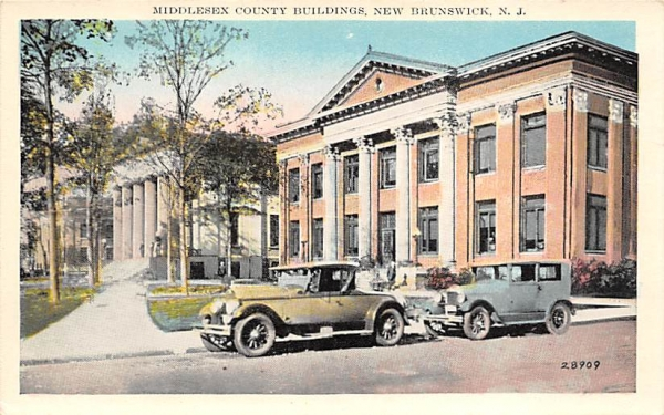 Middlesex County Buildings New Brunswick, New Jersey Postcard