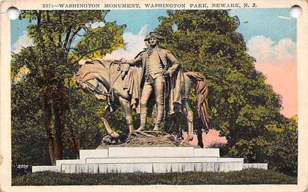 Washington Monument, Washington Park Newark, New Jersey Postcard