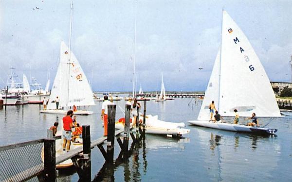 Marina on the New Jersey Shore Postcard