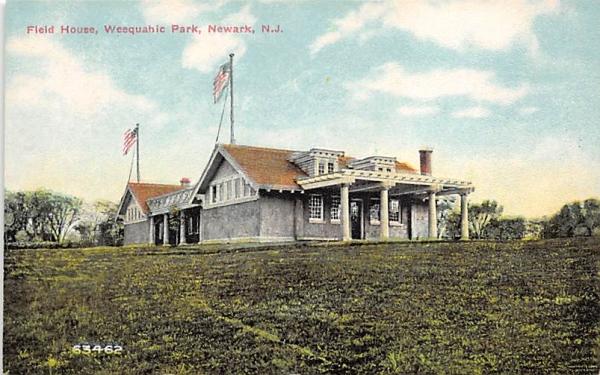 Field House, Weequahic Park Newark, New Jersey Postcard