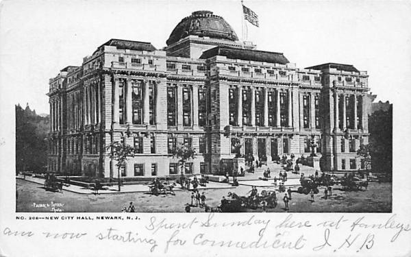 New City Hall Newark, New Jersey Postcard