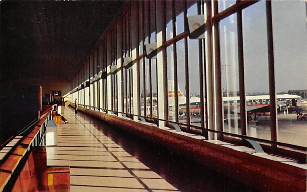 Observation Deck, Newark Airport Terminal Building New Jersey Postcard