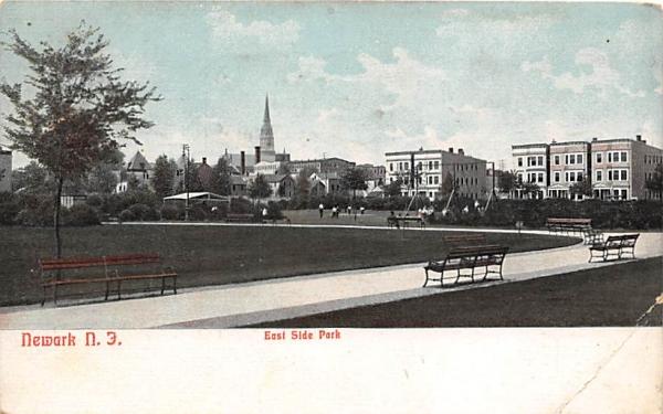 East Side Park Newark, New Jersey Postcard