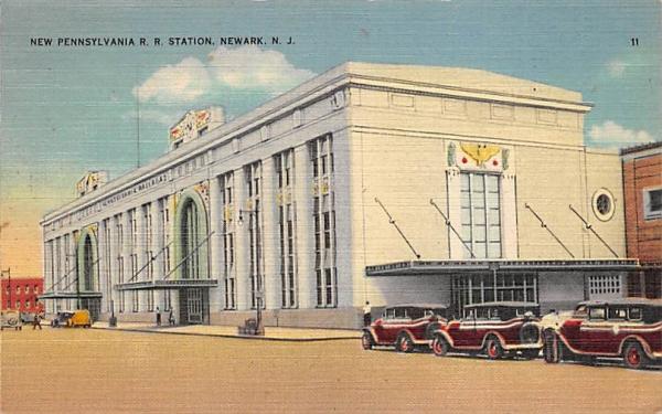 New Pennsylvania R. R. Station Newark, New Jersey Postcard