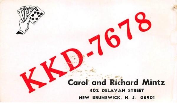 KKD - 7678 New Brunswick, New Jersey Postcard