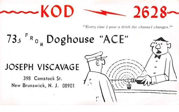 KOD 2628 New Brunswick, New Jersey Postcard