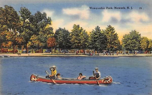 Weequachic Park Newark, New Jersey Postcard