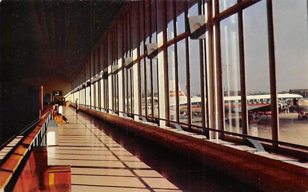 Observation Deck Newark Airport Terminal Building  New Jersey Postcard