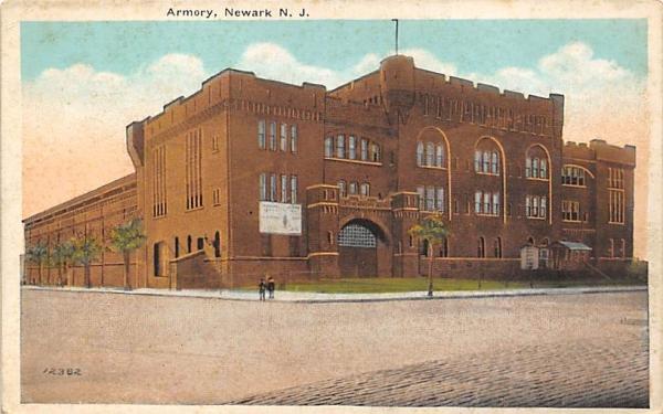 Armory Newark, New Jersey Postcard