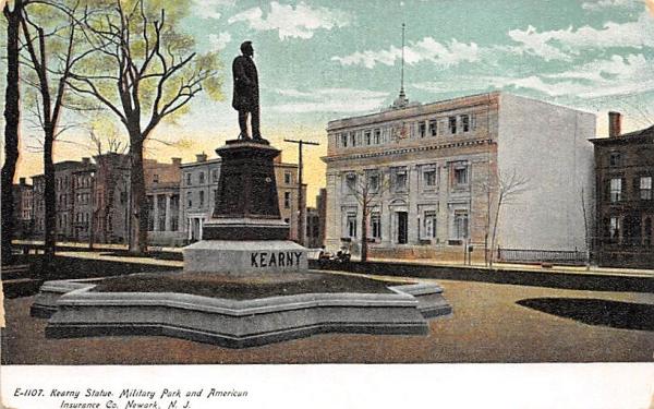 Kearny Statue, Military Park Newark, New Jersey Postcard