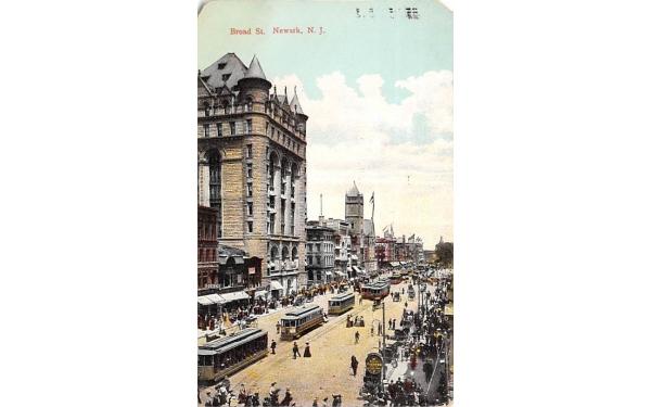 Broad St. Newark, New Jersey Postcard