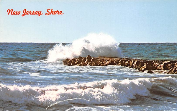 Breakers on the New Jersey Shore Postcard