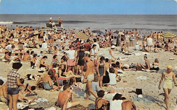 Beach scene at the New Jersey Postcard