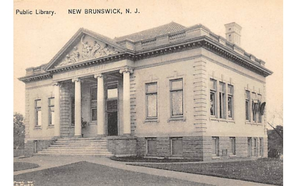 Public Library New Brunswick, New Jersey Postcard