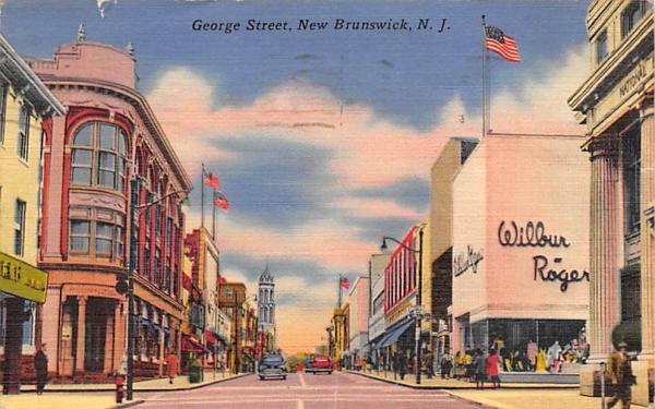 George Street New Brunswick, New Jersey Postcard