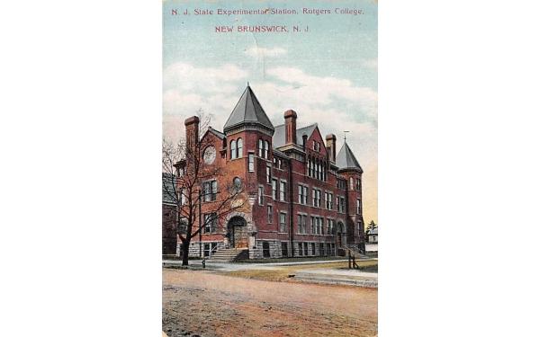 N. J. State Experimental Station, Rutgers College New Brunswick, New Jersey Postcard