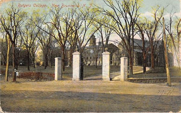 Rutgers College New Brunswick, New Jersey Postcard
