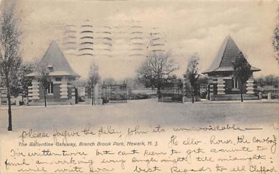 Ballentine Gateway, Branch Brook Park Newark, New Jersey Postcard