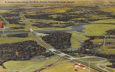 A scenic view along the New Jersey Turnpike Postcard