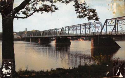 Lambertville - New Hope Bridge New Jersey Postcard