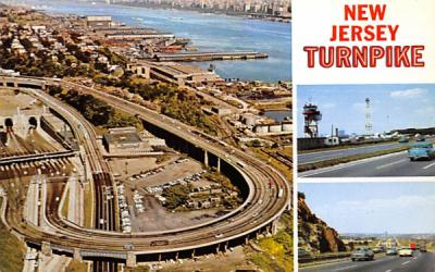 A view of the Lincoln Tunnel North Hudson River New Jersey Turnpike Postcards, New Jersey