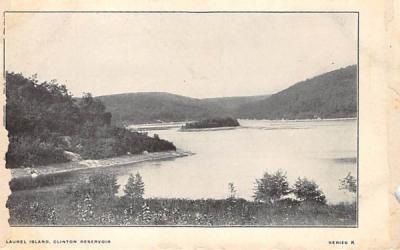 Laurel Island, Clinton Reservoir, Idylease Inn Newfoundland, New Jersey Postcard